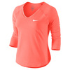 Women`s Pure 3/4 Sleeve Tennis Top 890_BRIGHT_MANGO