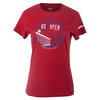 WILSON Women`s NYC Graphic Tennis Tee Red