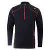 WILSON Men`s NVision Zip Neck Long Sleeve NYC Tennis Top Black and Red
