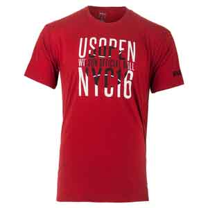 WILSON MENS NYC GRAPHIC TENNIS TEE RED