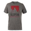 WILSON Men`s NYC Graphic Tennis Tee Charcoal Heather