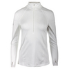 WILSON Women`s NVision Zip Neck Long Sleeve NYC Tennis Top White