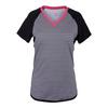 JOFIT Women`s Raglan Tennis Tee Cabernet Stripe