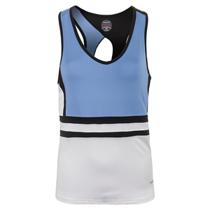 Women`s Seraphina Tennis Racerback White and Periwinkle