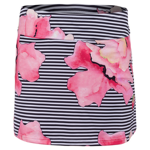 Women`s Tennis Skort Stripe Floral