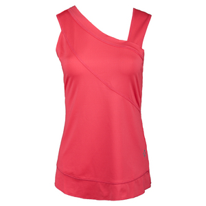 Women`s Side Drape Tennis Tank Sherbet