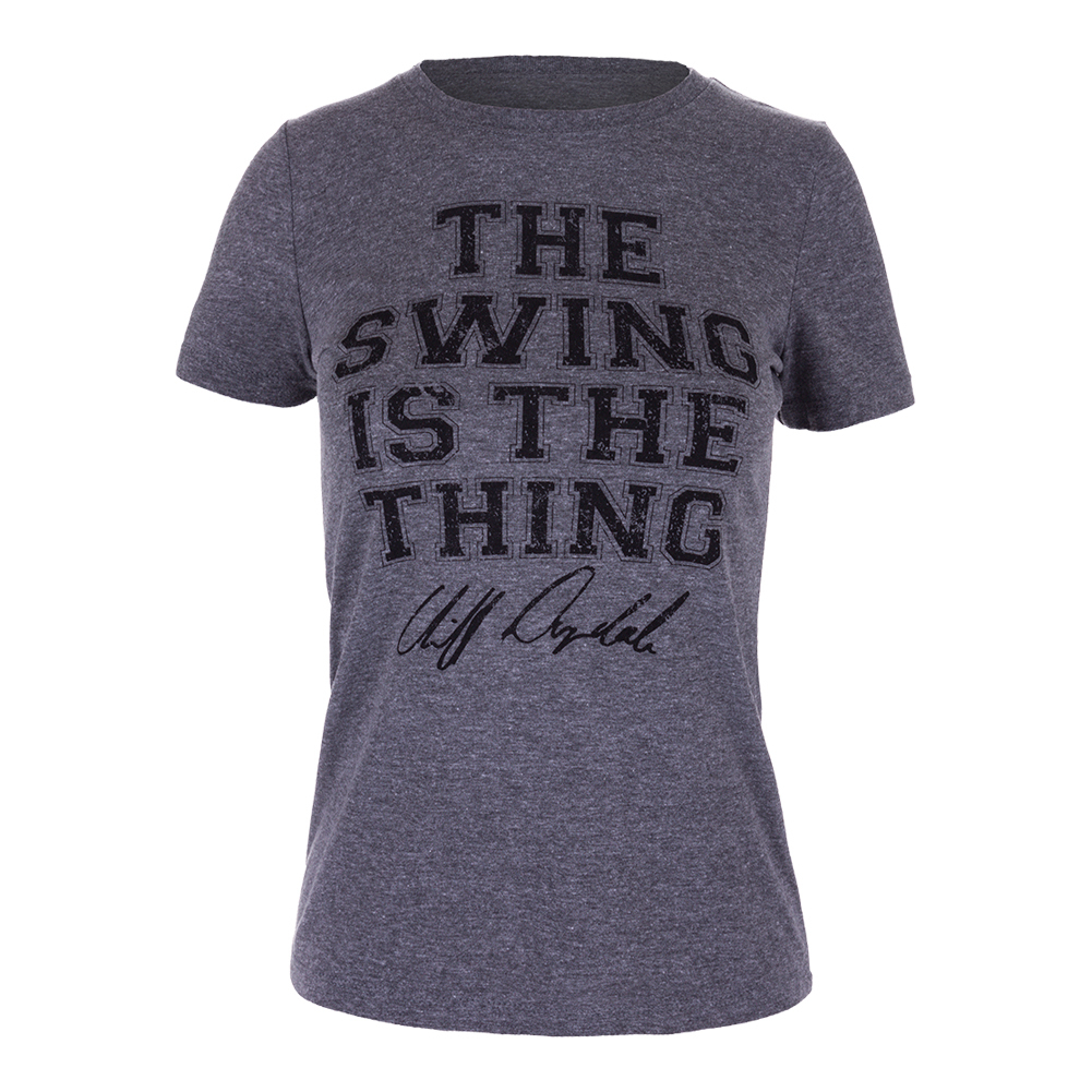 Women's Swing Is The Thing Tennis Tee Gray