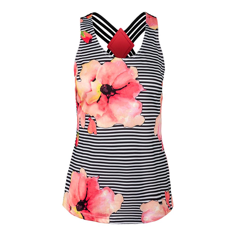 Women's Whitby Tennis Tank Stripe Floral
