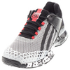 ADIDAS Men`s Adizero Ubersonic Sun Tzu Tennis Shoes White and Cyber Metallic