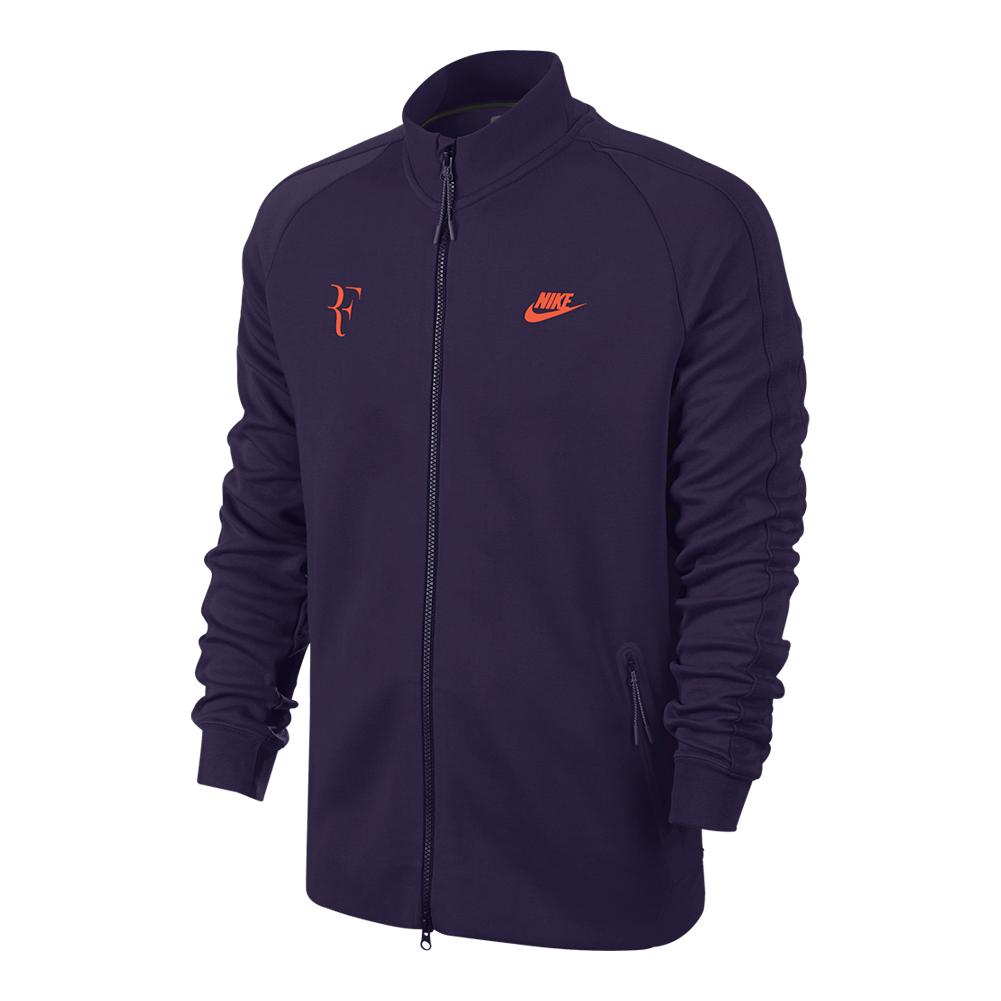 Men's Premier Roger Federer N98 Tennis Jacket Purple Dynasty