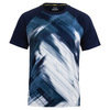 FILA Men`s Hurricane Printed Tennis Crew Navy and White