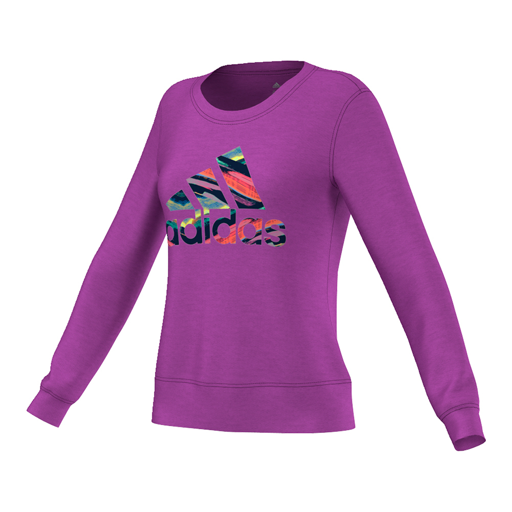 Women's Brand Long Sleeve Tennis Crew Shock Purple