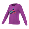 ADIDAS Women`s Brand Long Sleeve Tennis Crew Shock Purple
