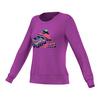 Women`s Brand Long Sleeve Tennis Crew Shock Purple by ADIDAS