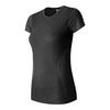 Women`s M4M Seamless Short Sleeve Tennis Top BKH_BLACK_HEATHER