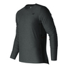 Men`s N Transit Long Sleeve Tennis Top HC_HEATHER_CHARCOAL