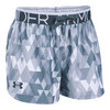 Girls` Printed Play Up Short 100_WHITE/STEALTH_GY