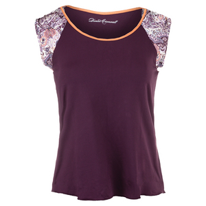 Women`s Short Sleeve Tennis Top Purple