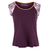 DENISE CRONWALL Women`s Short Sleeve Tennis Top Purple