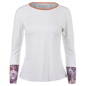 Women`s Long Sleeve Tennis Top White