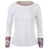 DENISE CRONWALL Women`s Long Sleeve Tennis Top White