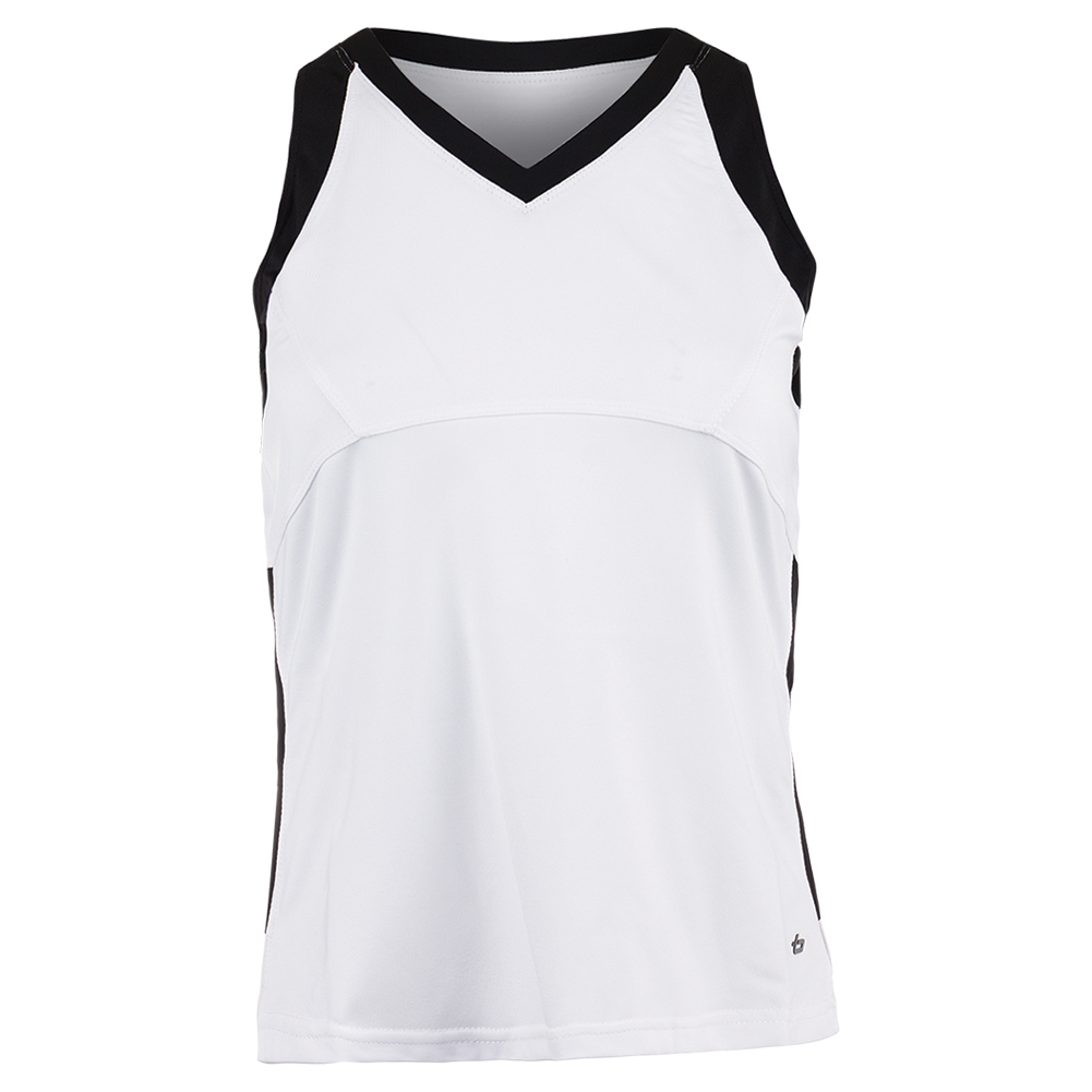Women's Raquel Tennis Tank White And Black