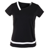 BOLLE Women`s Raquel Cap Sleeve Tennis Top Black