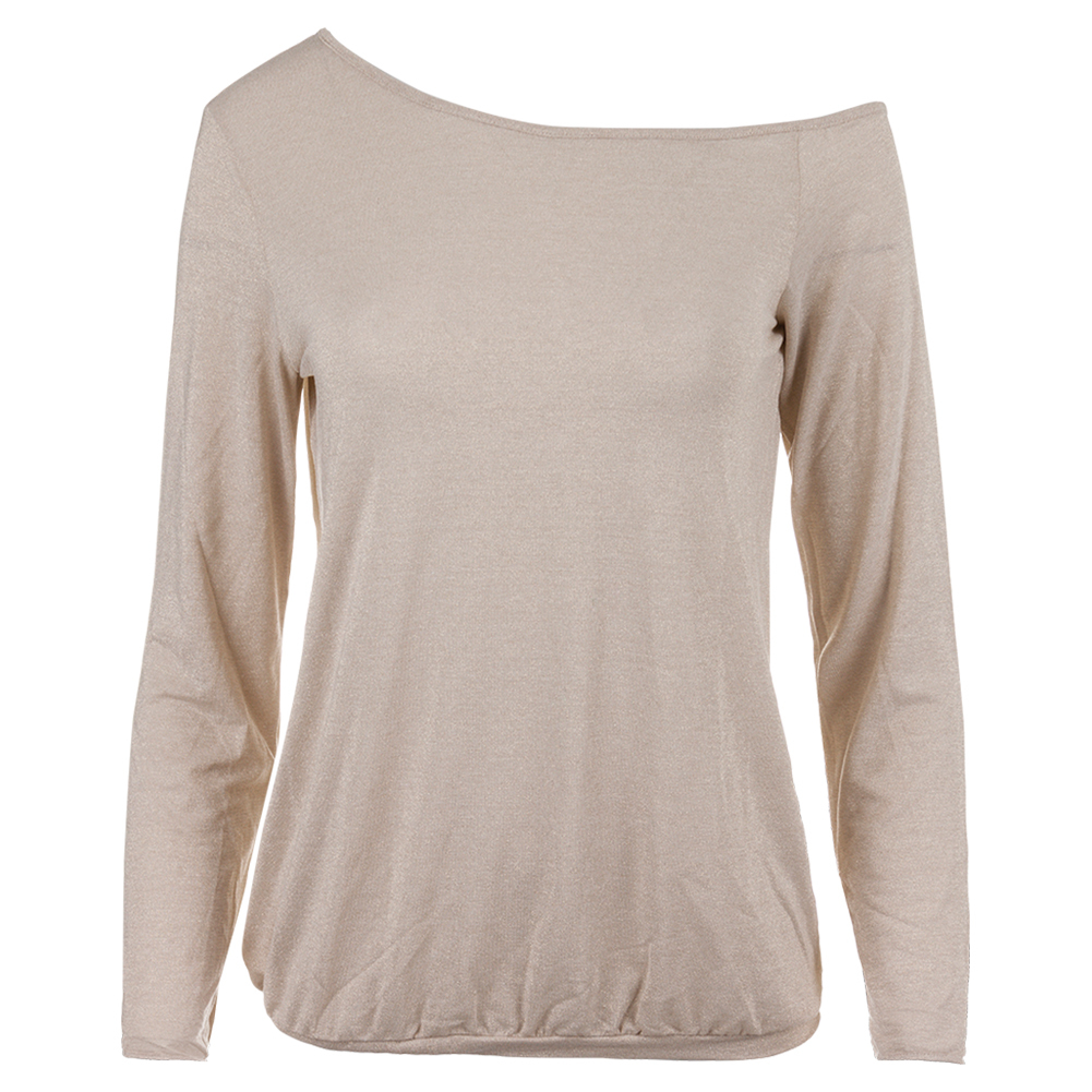 Women's Shimmer Tennis Pullover Gold And White
