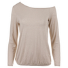 DENISE CRONWALL Women`s Shimmer Tennis Pullover Gold and White