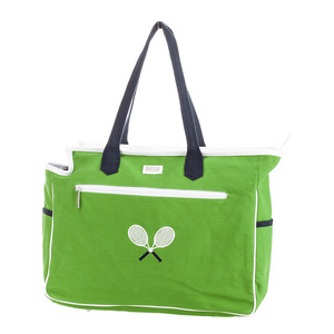 Women`s Cross Racquet Court Tennis Bag Green