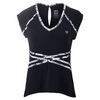 ELEVEN Women`s Inspire Cap Sleeve Tennis Top Black