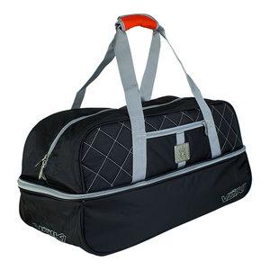 Duffel Tennis Bag Black and Silver