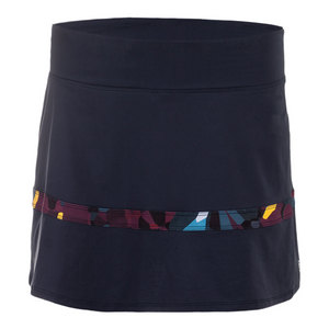 Women`s Hustle Tennis Skort Blackberry and Print