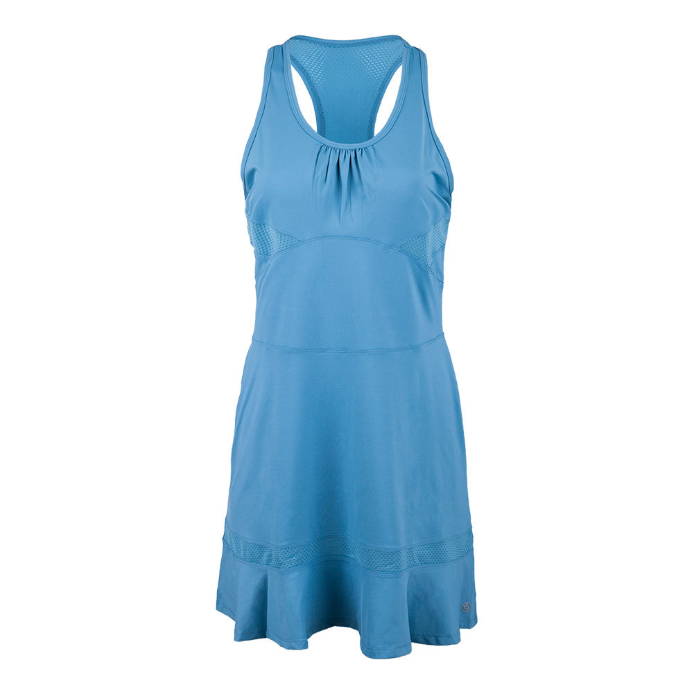 Women's Mesh Panel Tennis Dress Elderberry