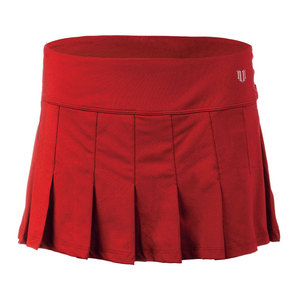 Women`s Flutter 13 Inch Tennis Skort Tango Red