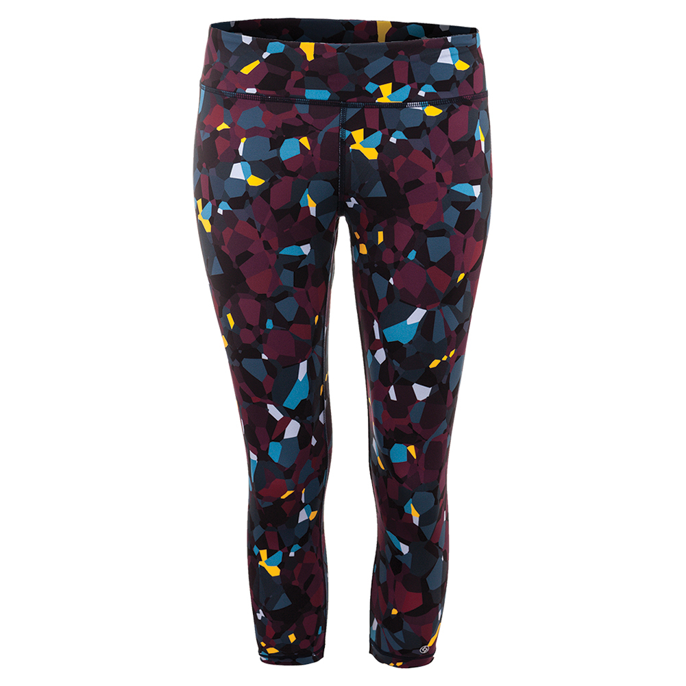 Women's No Fear Tennis Capri Blackberry Print