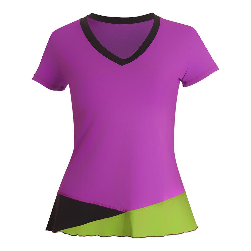 Women's Classic Short Sleeve Tennis Top Amethyst