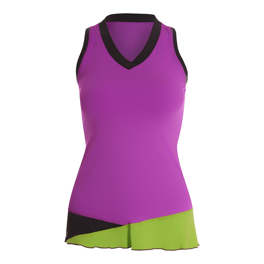 Women's Full Back Tennis Tank Amethyst