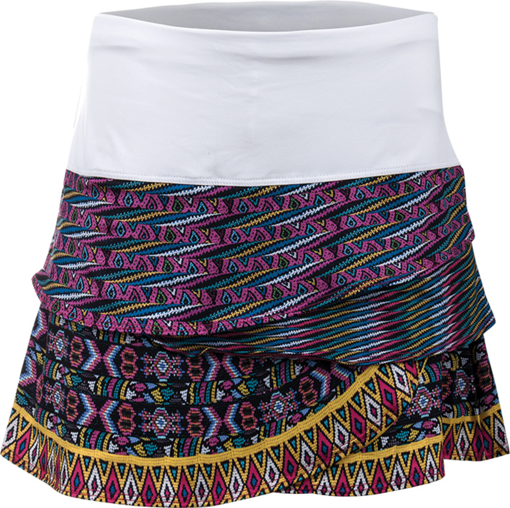 Women's Queen Bead Scallop Tennis Skort Print