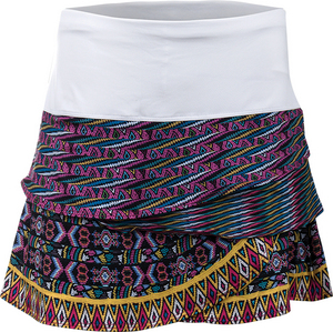 Women`s Queen Bead Scallop Tennis Skort Print