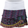 LUCKY IN LOVE Women`s Queen Bead Scallop Tennis Skort Print