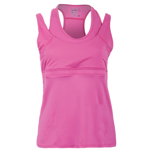 Women`s Double-Up Racerback Tennis Tank Pink Berry