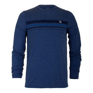 Mens Campa Long Sleeve Tennis Top Dark Denim