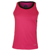 LUCKY IN LOVE Women`s V-Neck Tennis Tank Crimson