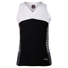 BOLLE Women`s Isabella Tennis Tank Black and White