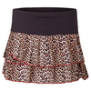 LUCKY IN LOVE Women`s Spot On Pleated Tier Tennis Skort Print