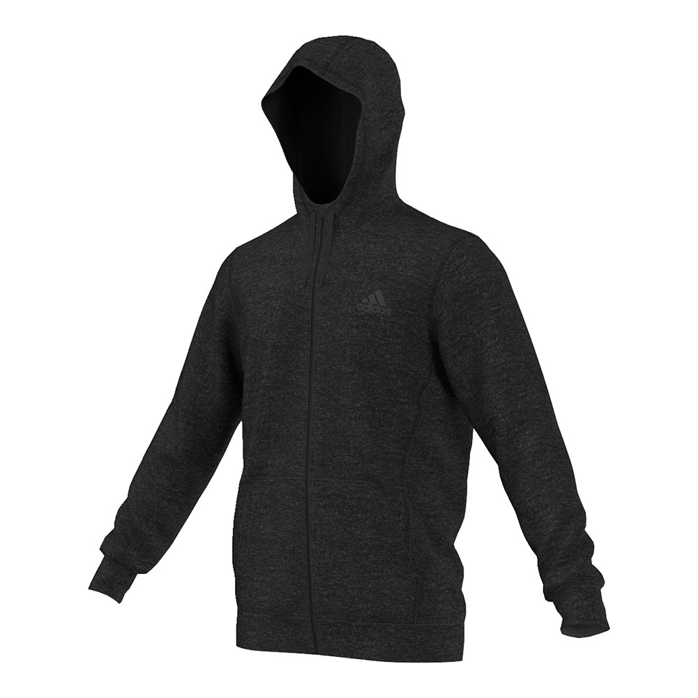 Men's Team Issue Fleece Full- Zip Hoodie Black Heather