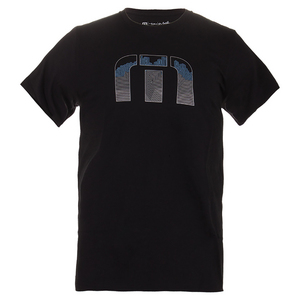 Men`s York Lines Tennis Tee Black
