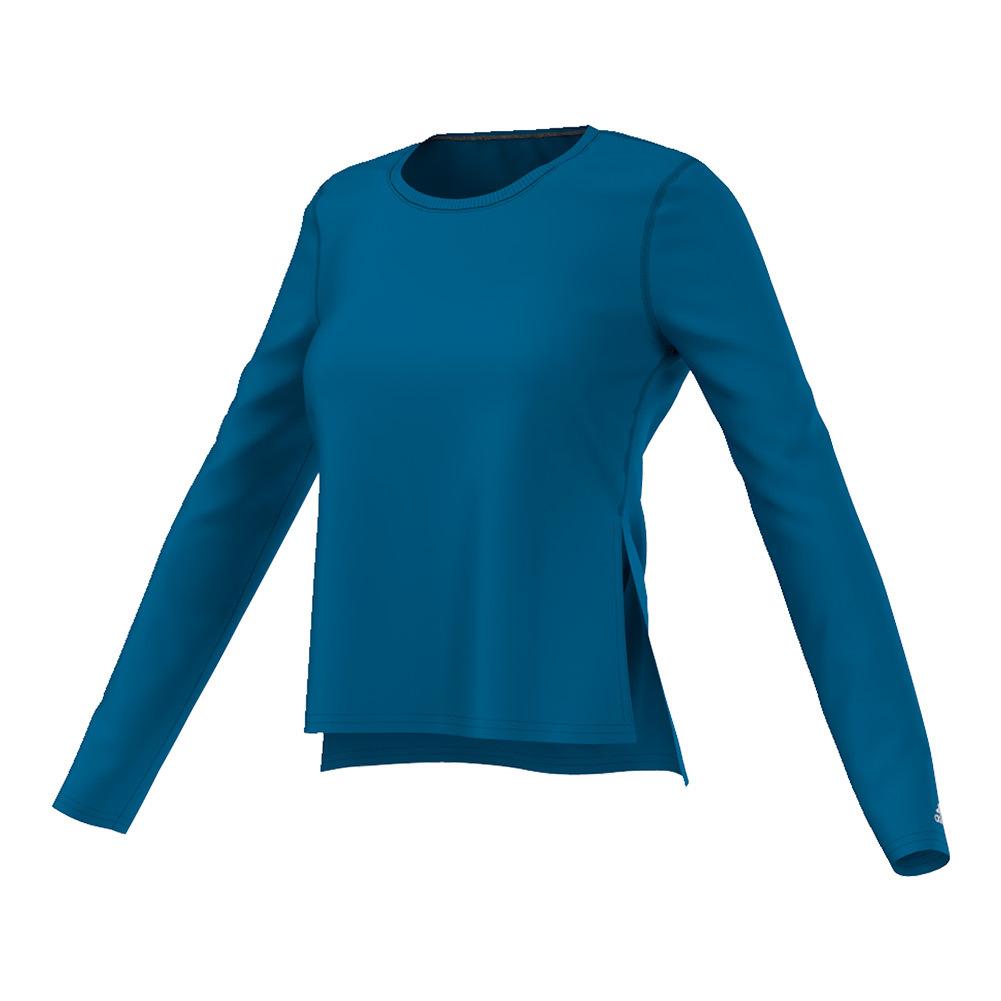 Women's Ultimate Long Sleeve Side Slit Tee Unity Blue