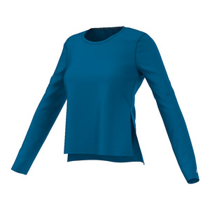 Women`s Ultimate Long Sleeve Side Slit Tee Unity Blue